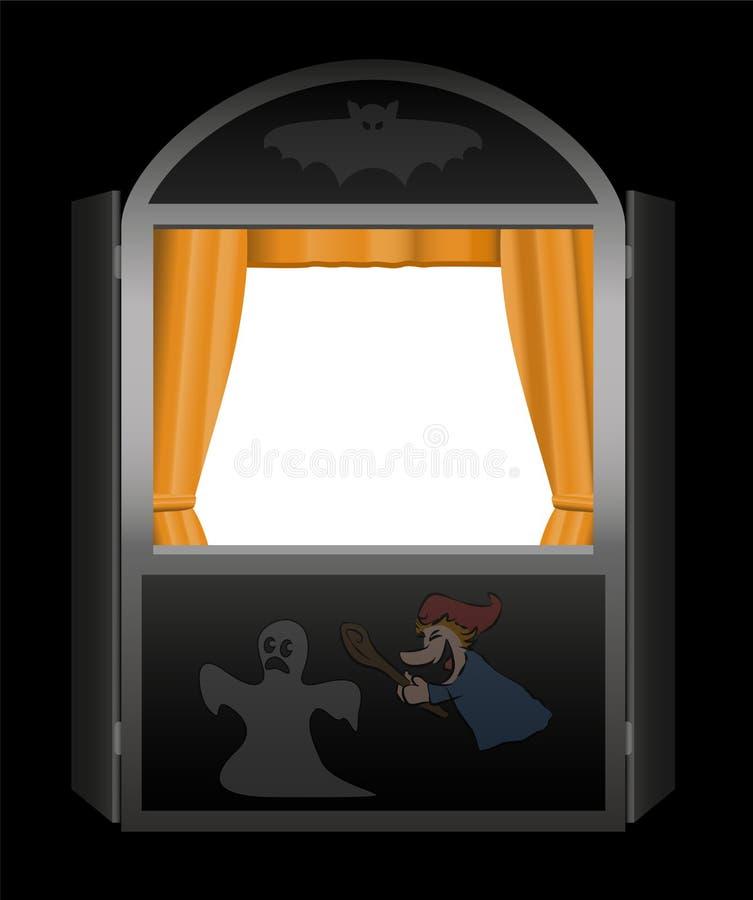Puppet Show Halloween stock illustration