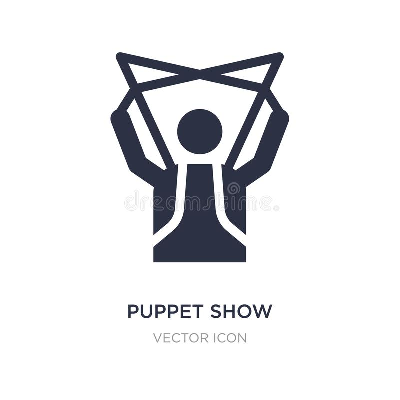 puppet show icon on white background. Simple element illustration from Entertainment and arcade concept vector illustration
