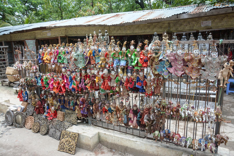 Puppet souvenir, Myanmar stock photography