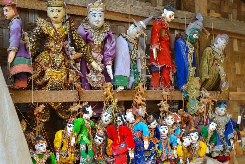 Puppet souvenir, Myanmar stock images