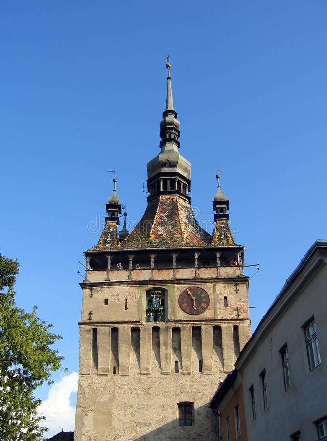 Puppet Tower - Sighisoara - Romania Free Stock Images