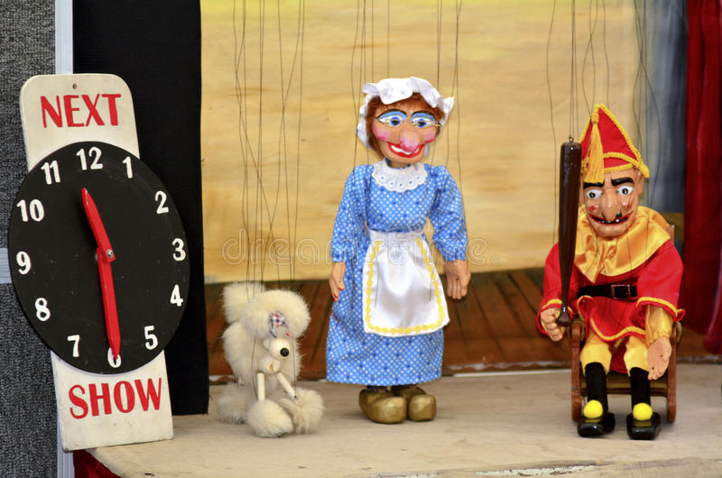 Puppetry. AUCKLAND,NZ - JUNE 01 2014:Puppetry show.It is very ancient and is believed to have originated 3000 years BC royalty free stock photos