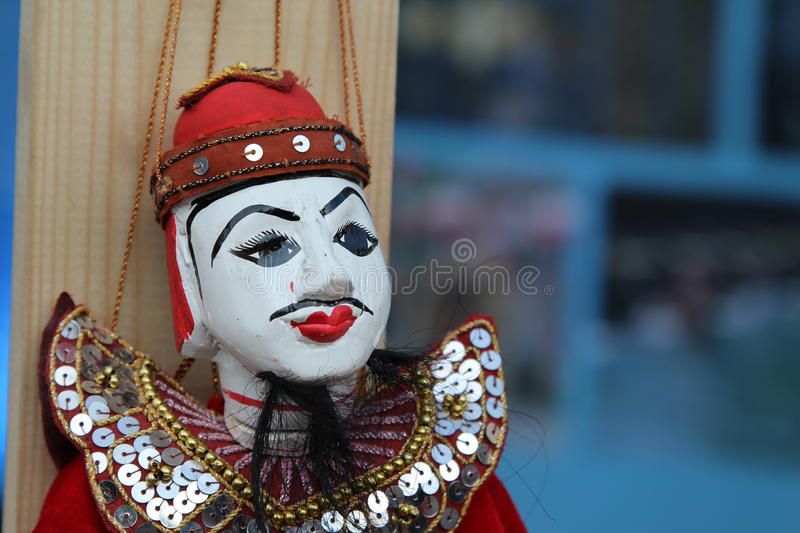 Puppetry Myanmar style. Colorful puppetry Myanmar style for sale stock images