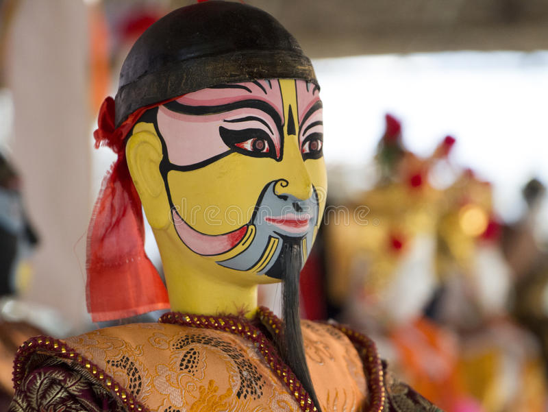 Puppetry. Show in chiangmai thailand royalty free stock images