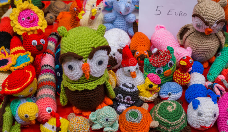 Puppets of cotton or wool stock images