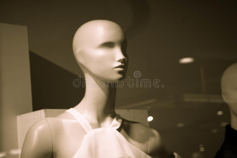 Puppets model on Clothes shop royalty free stock images