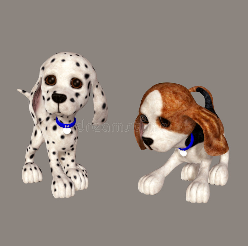 Download Puppy stock illustration. Image of dalmatian, render, animal - 6580740