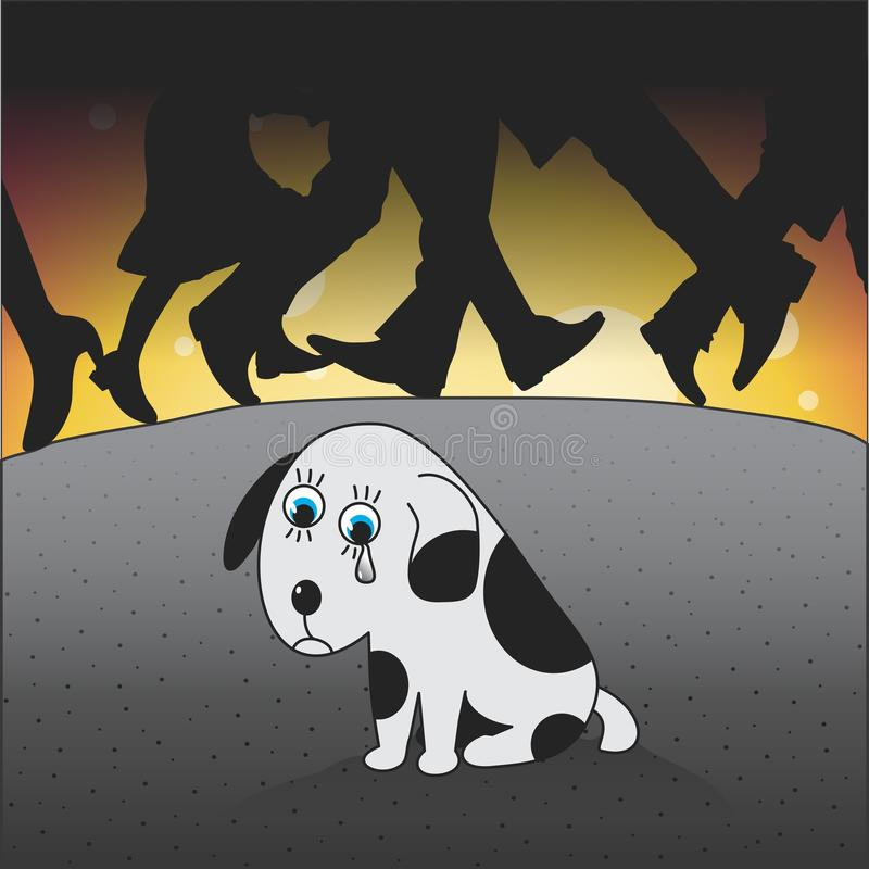 Puppy. An abandoned puppy. Vector format
