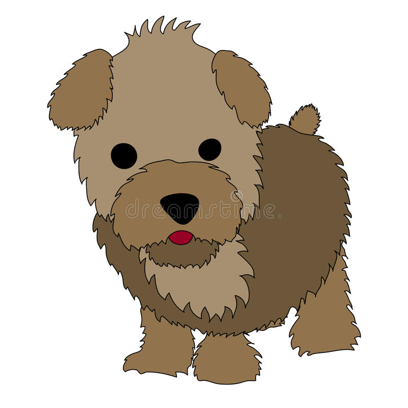 Download Puppy Cartoon stock vector. Image of drawing, isolated - 20771274