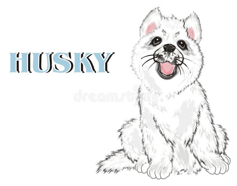 Puppy en woord royalty-vrije illustratie