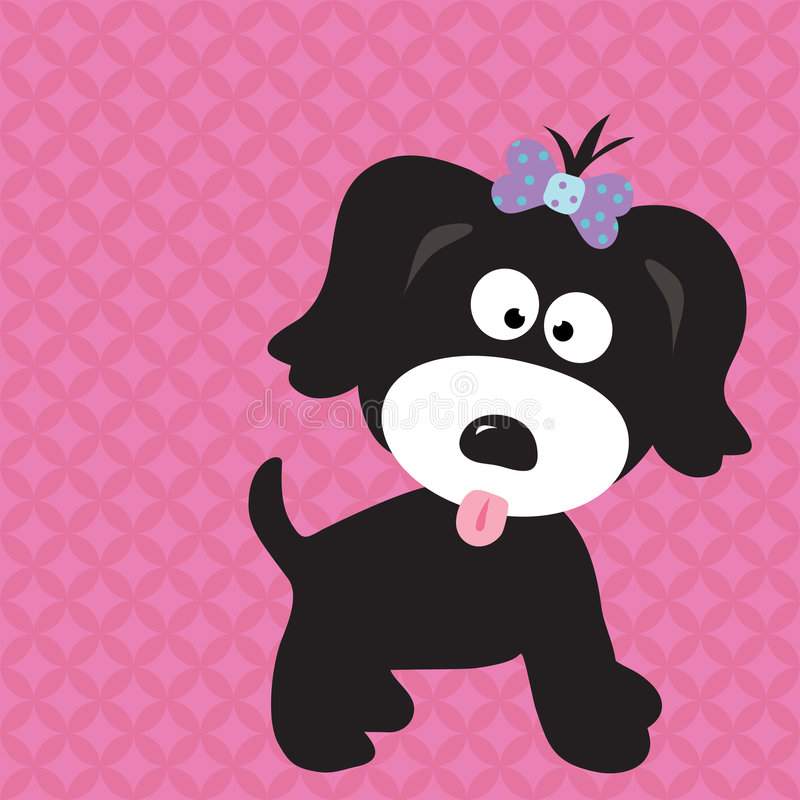 Download Puppy Girl On Cool Background Stock Vector - Image: 8504526