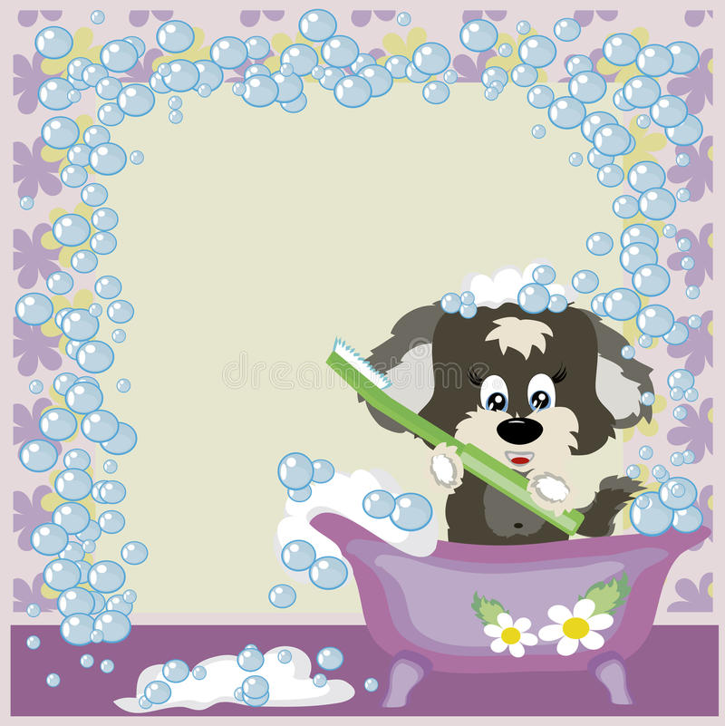 Free Puppy In The Bathroom. Royalty Free Stock Photos - 16685178