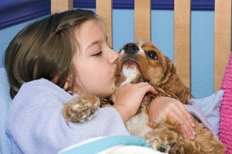 Download Puppy Kisses stock photo. Image of friend, kisses, kids - 199778
