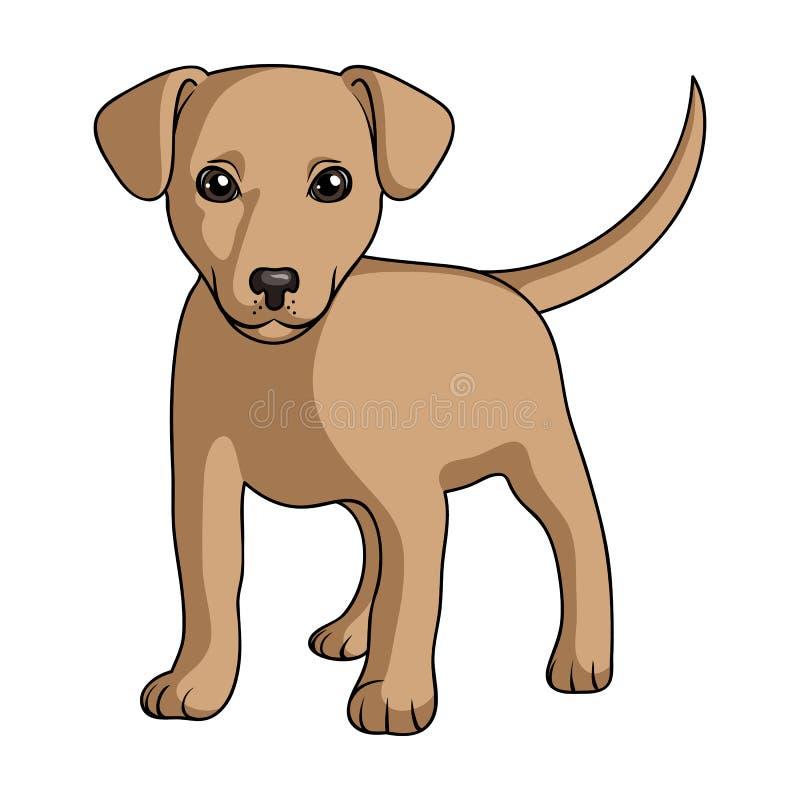 Puppy Labrador De dieren kiezen pictogram in beeldverhaalstijl rater uit, bitmap de illustratieweb van de symboolvoorraad vector illustratie