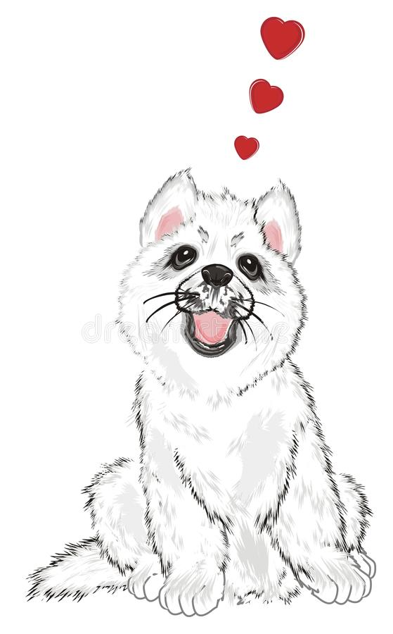 Puppy in Liefde stock illustratie