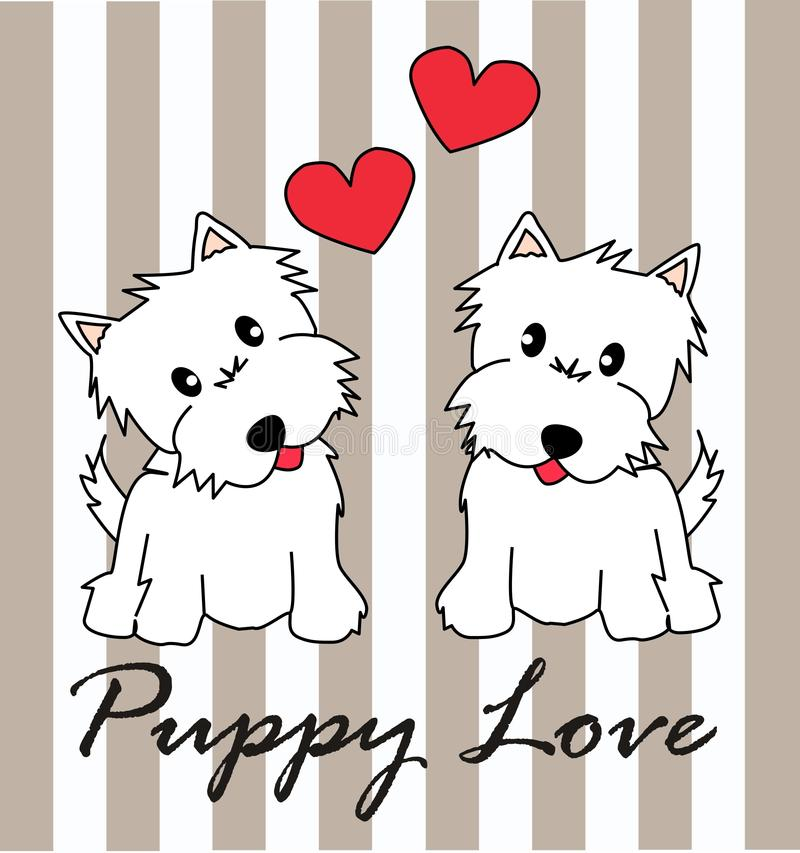 Puppy love royalty free stock image
