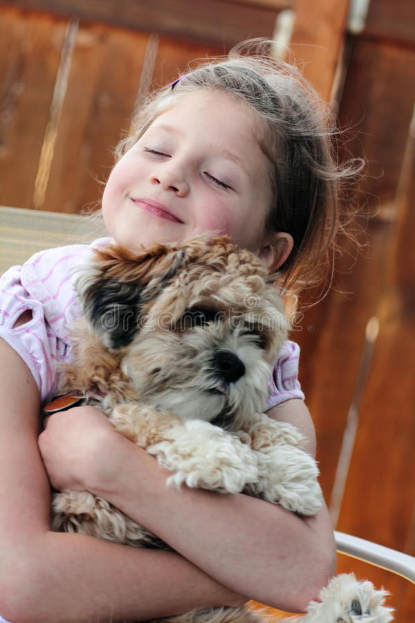 Download Puppy Love stock image. Image of blond, friendship, adoption - 20615781