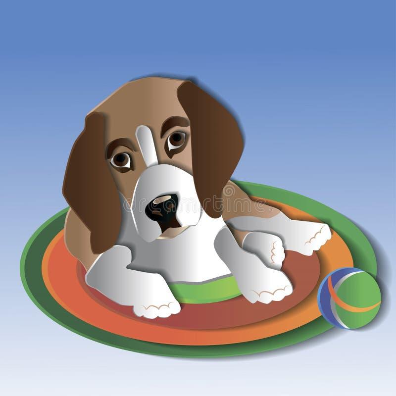 Puppy op de Mat royalty-vrije illustratie