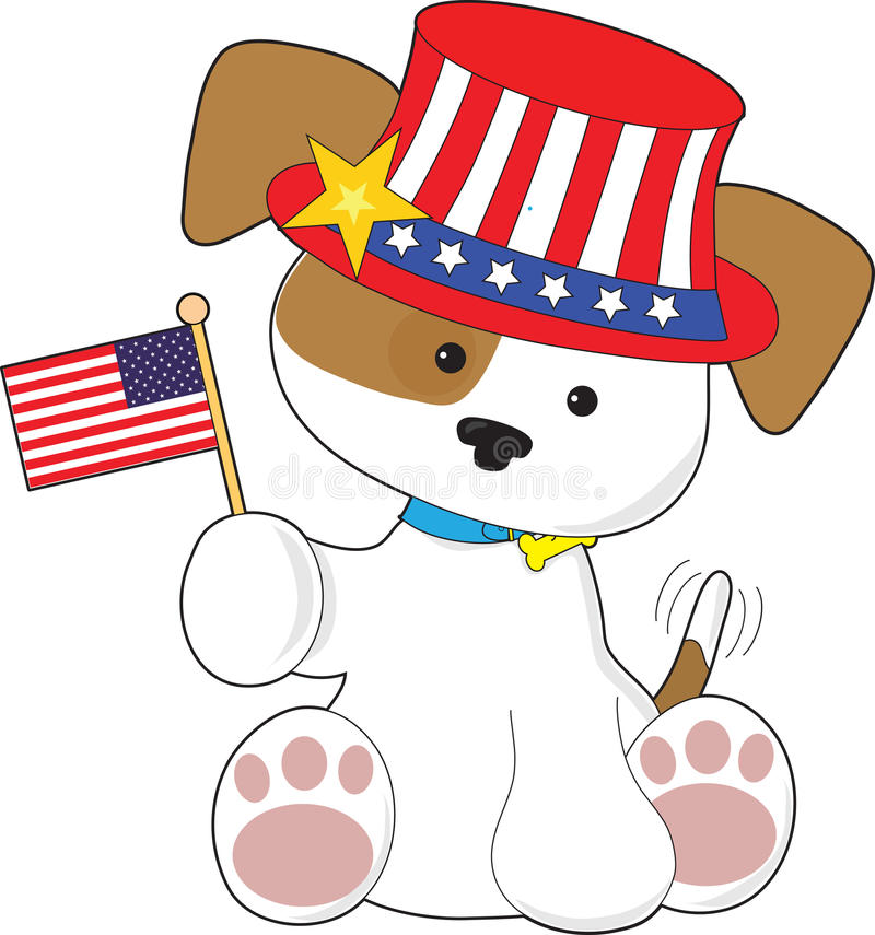 Download Puppy Patriotic stock illustration. Image of canine, pose - 30696455