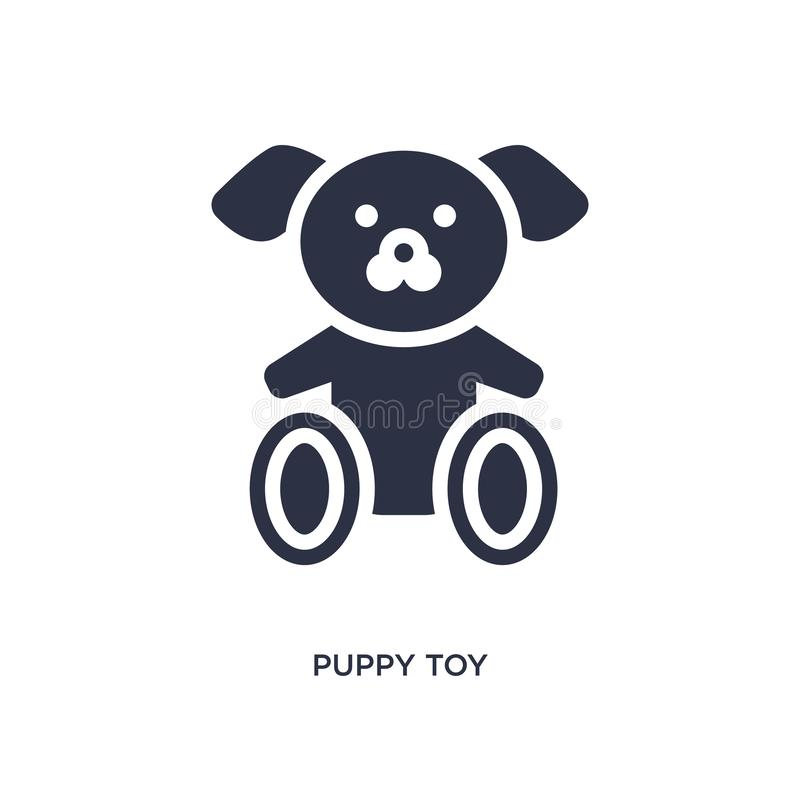 Puppy toy icon on white background. Simple element illustration from toys concept. Puppy toy icon. Simple element illustration from toys concept. puppy toy royalty free illustration