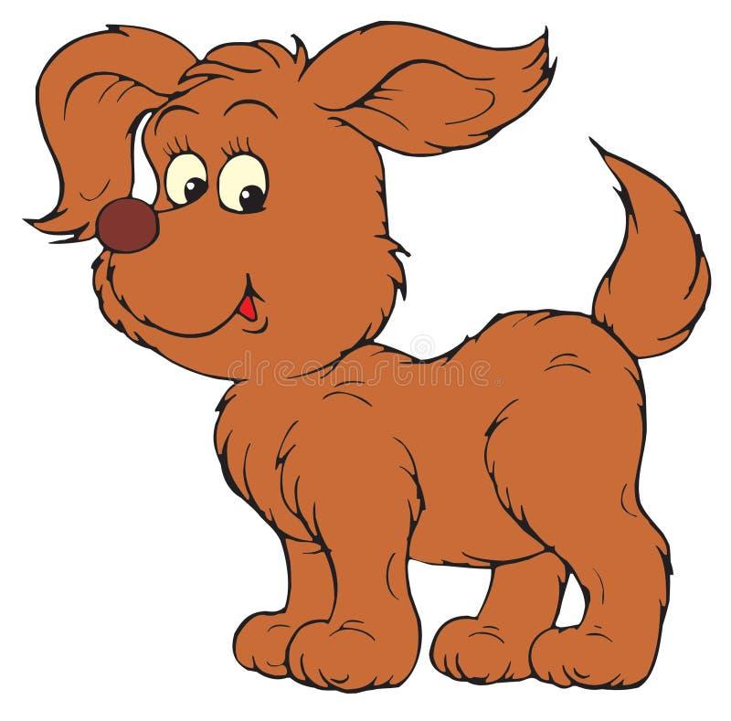 Puppy (vector klem-kunst) stock illustratie