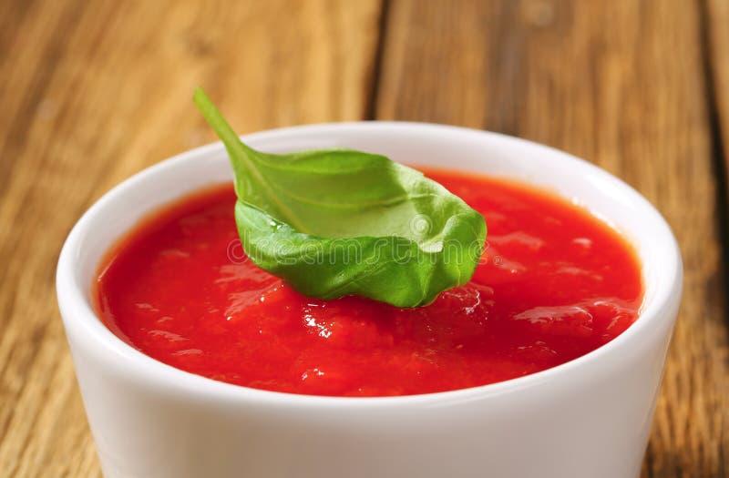 Puré del tomate imagen de archivo libre de regalías