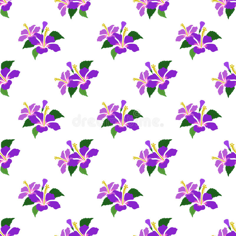 Pur botanico variopinto della pianta della foglia del fiore di immagine di sfondo senza cuciture illustrazione di stock