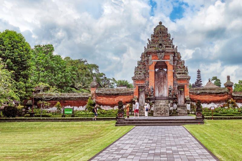 Pura塔曼阿云寺在巴厘岛,印度尼西亚 免版税图库摄影