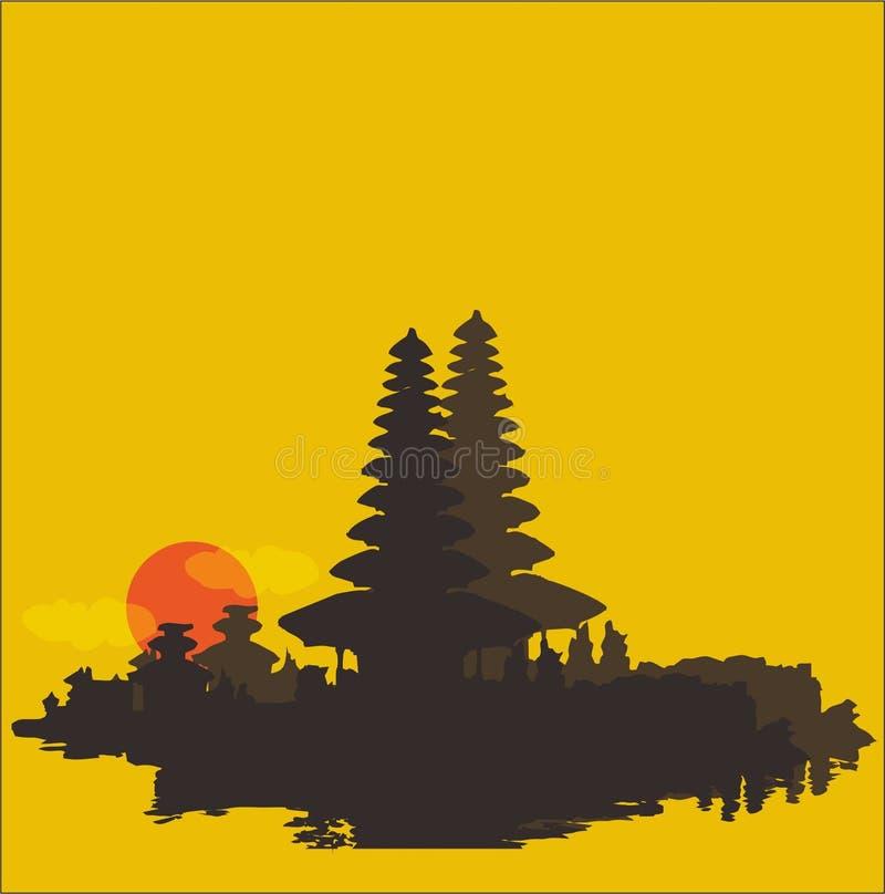 Pura ηλιοβασιλέματος silhouete στοκ εικόνες
