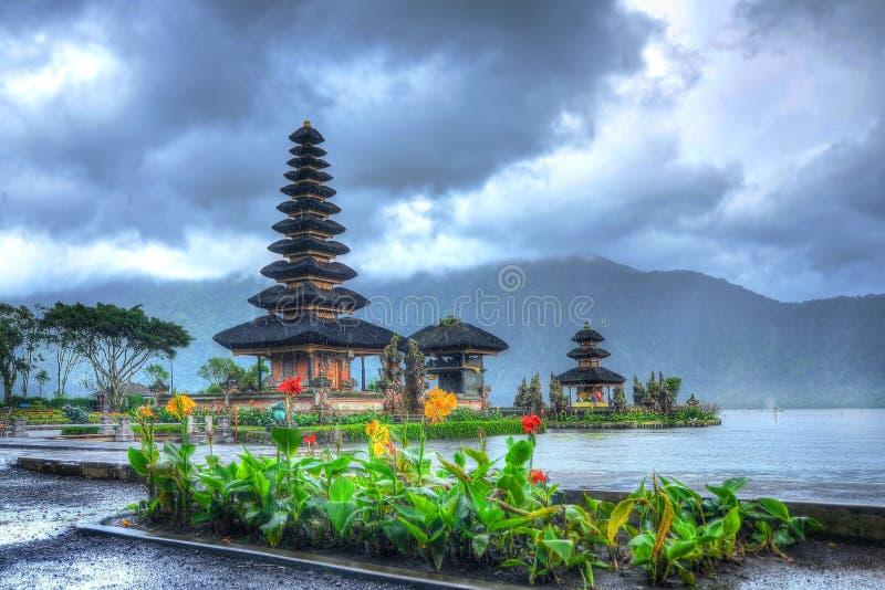 Pura на bedugul Бали стоковое фото