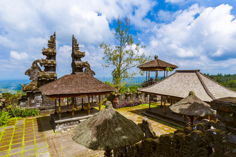 Pura Besakih temple - Bali Island Indonesia. Travel and architecture background royalty free stock images