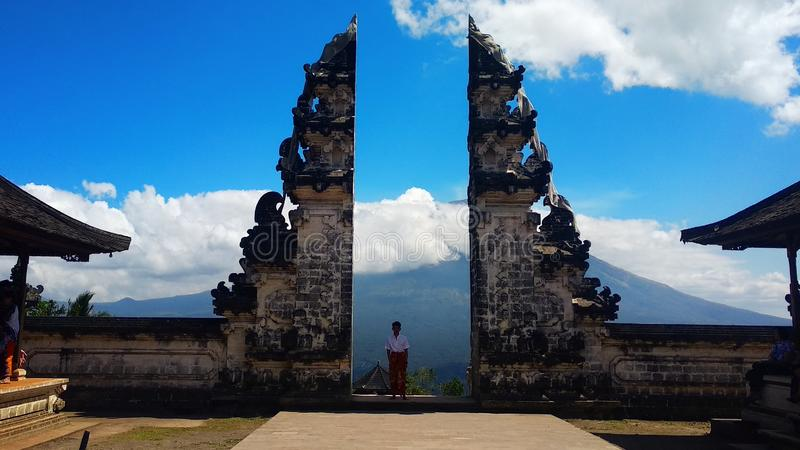 Pura Lempuyang fotografia fotografia stock