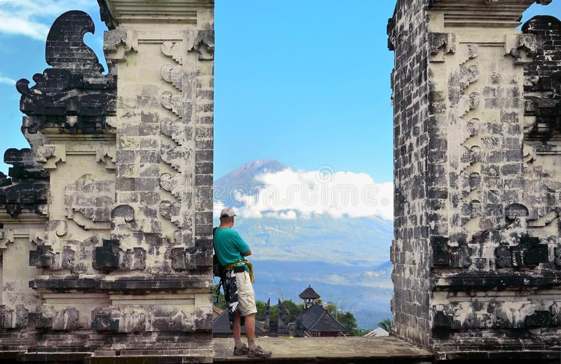 Pura Luhur Lempuyang tempel Bali Indonesien arkivfoto