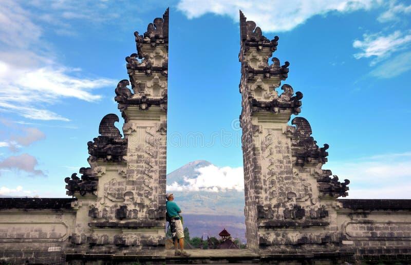 Pura Luhur Lempuyang tempel Bali Indonesien arkivfoton