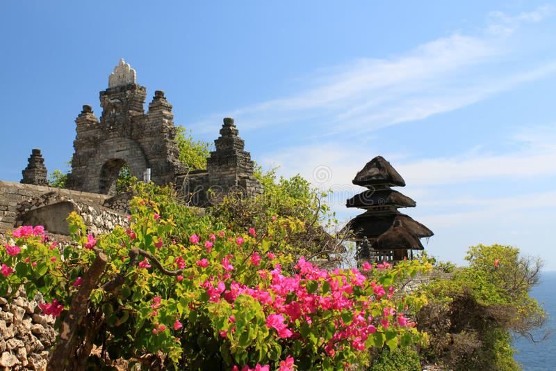 Pura Luhur Uluwatu tempel, Bali royaltyfri bild