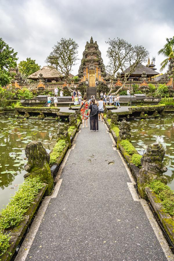 Pura Taman Saraswati Temple. Ubud, Bali, Indonesia royalty free stock photography