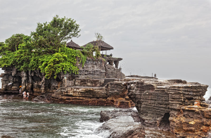 Pura Tanah lot. Temple in the sea( Pura tanah lot), Bali, Indonesia royalty free stock image