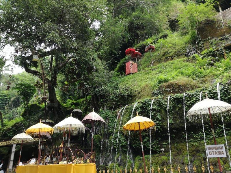 Pura Tirta Sudamala puryfikacji miejsce przy Bangli, Bali Melukat, wiosna obrazy royalty free