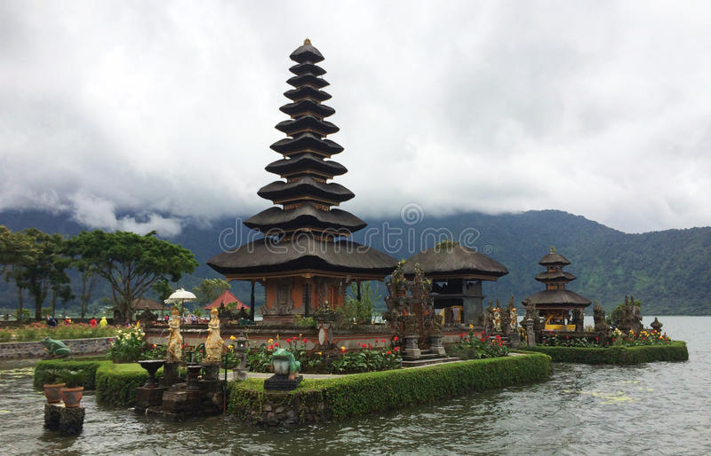 Pura Ulan Dan Bratan, Bali, Indonesia immagine stock libera da diritti