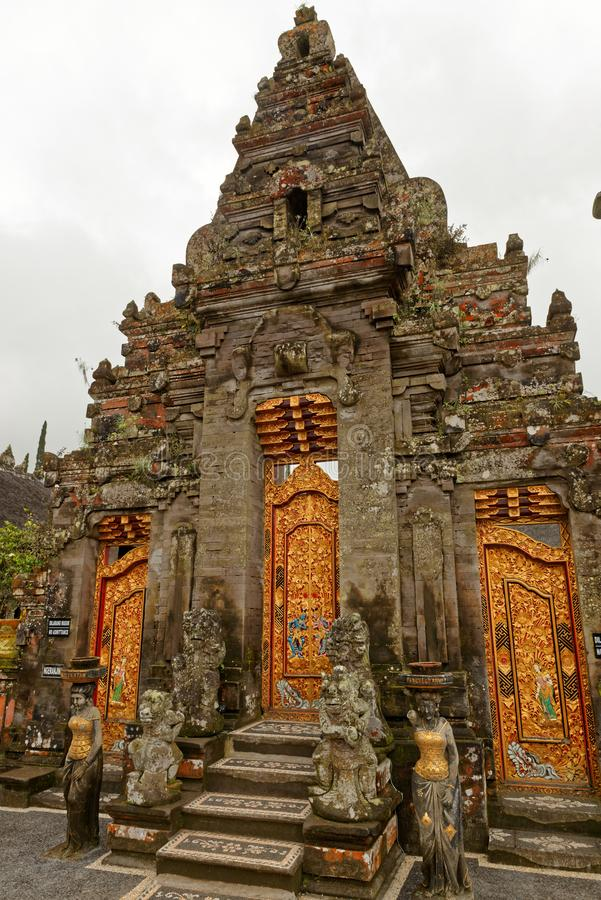 Door in the Bratan Temple in Bali. Pura Ulun Danu Beratan, or Pura Bratan, is a major Shaivite water temple on Bali, Indonesia. The temple complex is located on stock photos