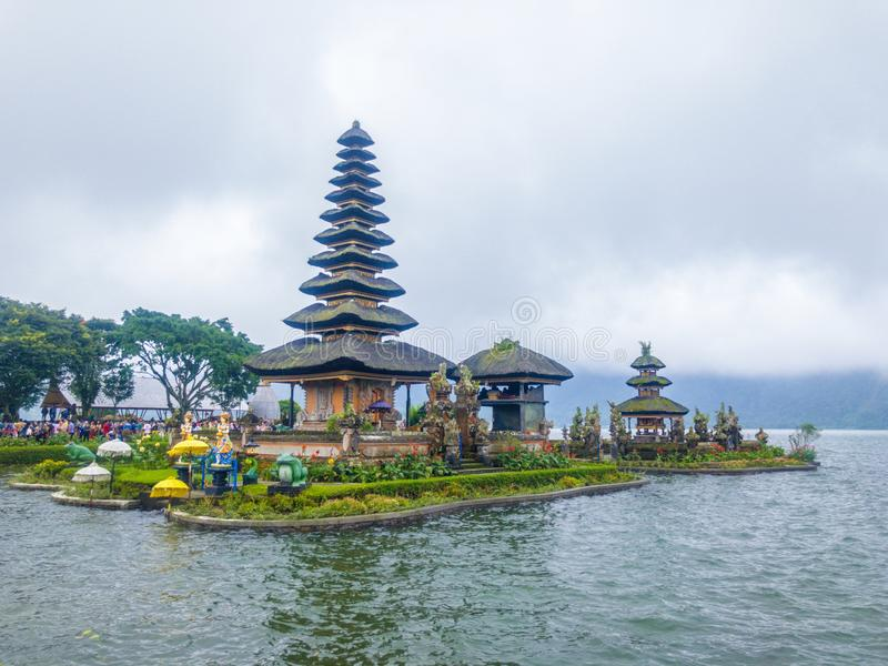 Pura Ulun Danu Bratan Bali stock image