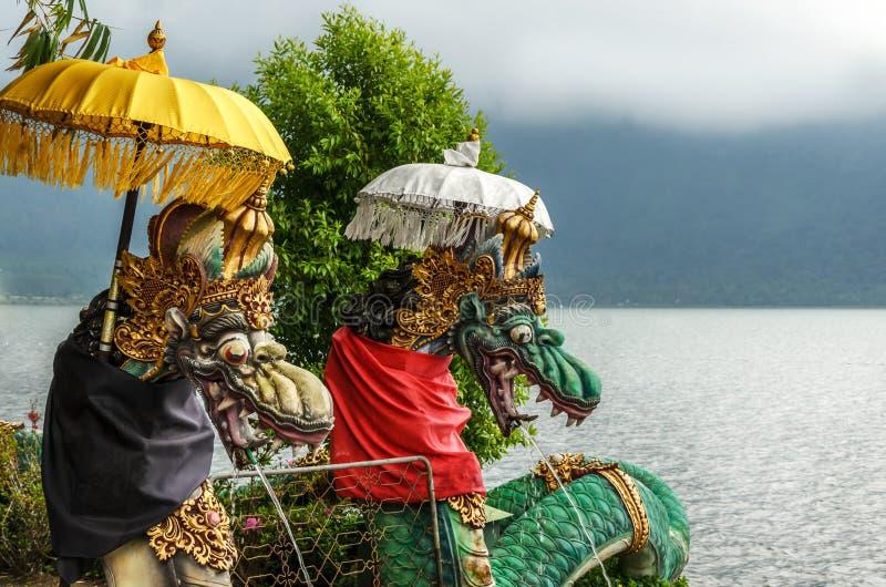 Pura Ulun Danu Bratan Hindu tempel i Bali royaltyfria foton