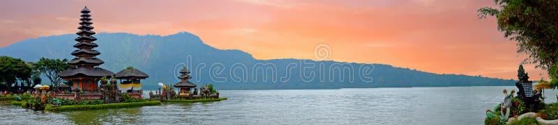 Pura Ulun Danu Bratan, Hindu temple on Bratan lake, Bali, Indonesia. Asia stock images