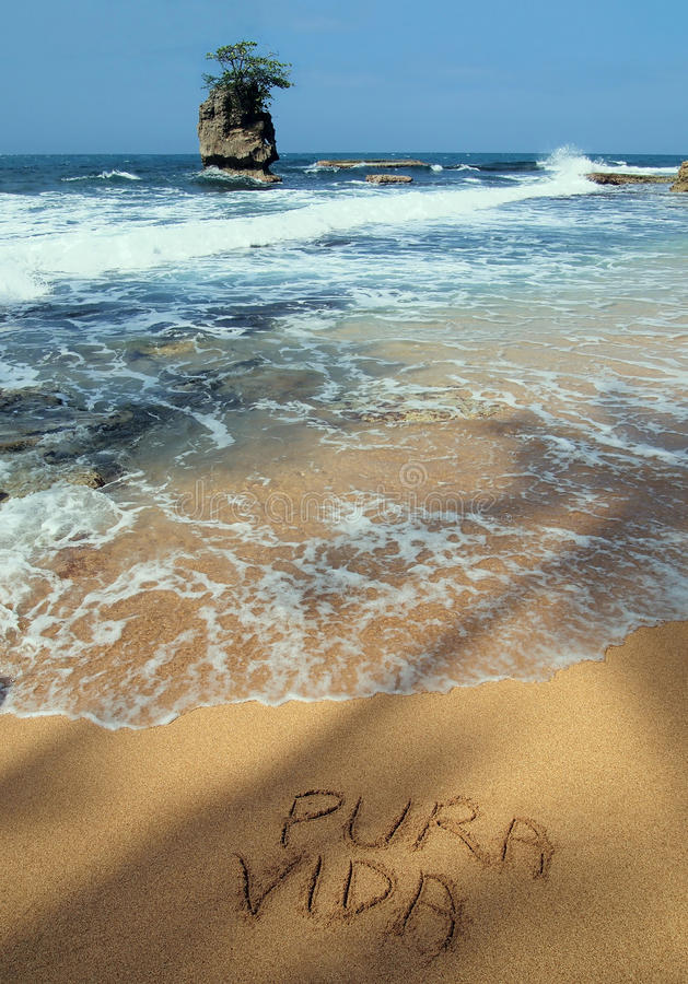 Download Pura vida on the beach stock image. Image of message - 25796317