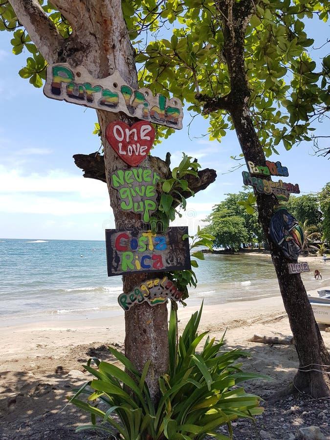 Pura Vida, eine Liebe, geben nie, Costa Rica auf stockfoto