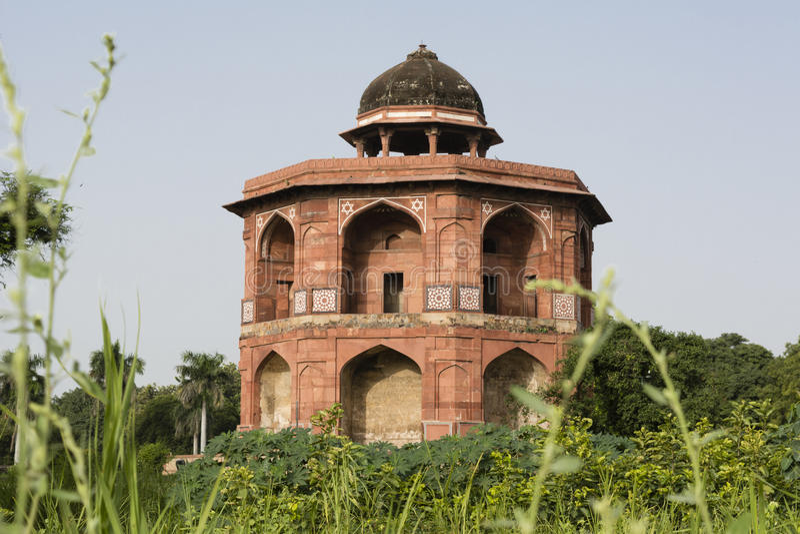 Purana Sher mandal innerer qila Komplex in Delhi stockbild