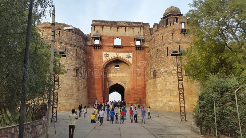 Puranaen Quila, Delhi, Indien, Asien arkivbilder