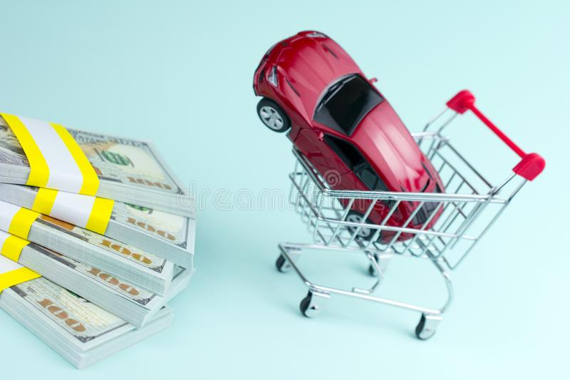 Purchase auto dealership and rental car concept royalty free stock images