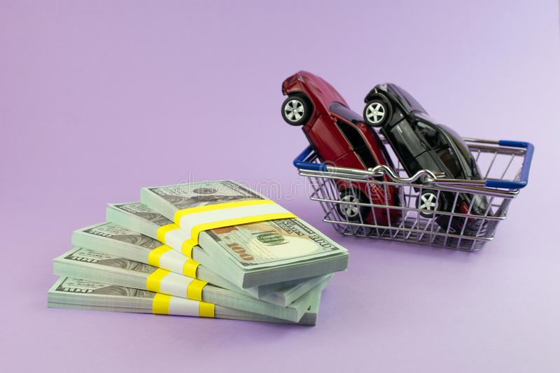 Purchase auto dealership and rental a new car royalty free stock photo