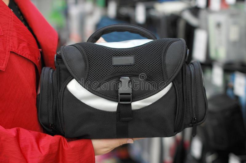 Purchase Of A Black Bag Stock Photo